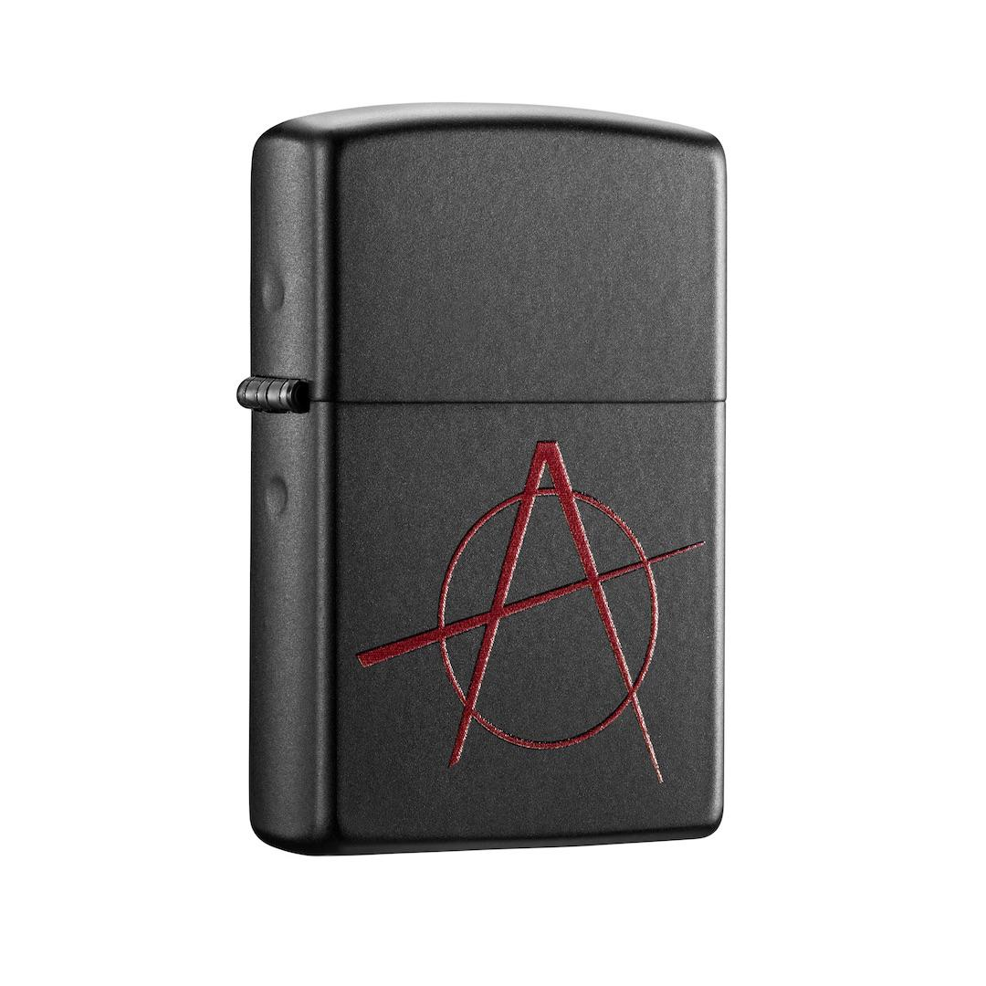 Zippo Buy At Best Price In Singapore Gold Ice Red Anarchy Symbol On Black Matte Windproof Lighter 20842