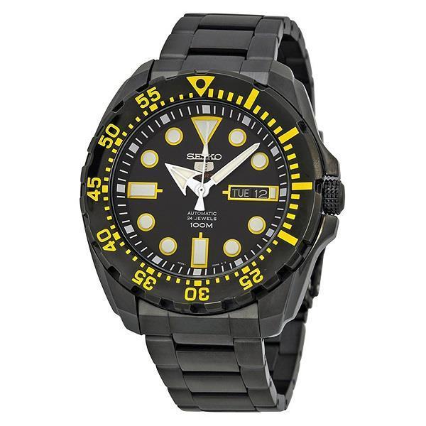 Seiko 5 Sports Black Stainless Steel Strap SRP607K1 SRP607K SRP607 Men's Watch
