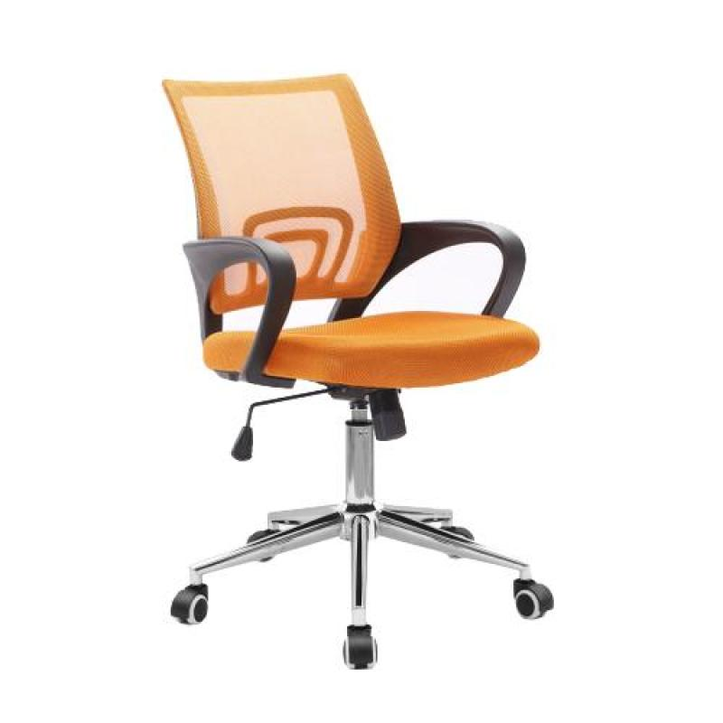 Office Chair Typist Chair ( BLACK FRAME MOBILE ) (Home Office Chair) Free Installation & 12-Months Warranty Singapore