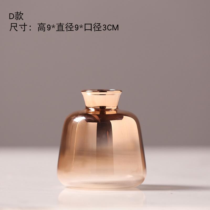 Modern Style Golden Hydroponic Vase
