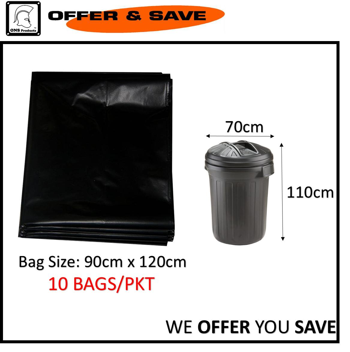 Black Trash/garbage Bag 3648 By Offer & Save.