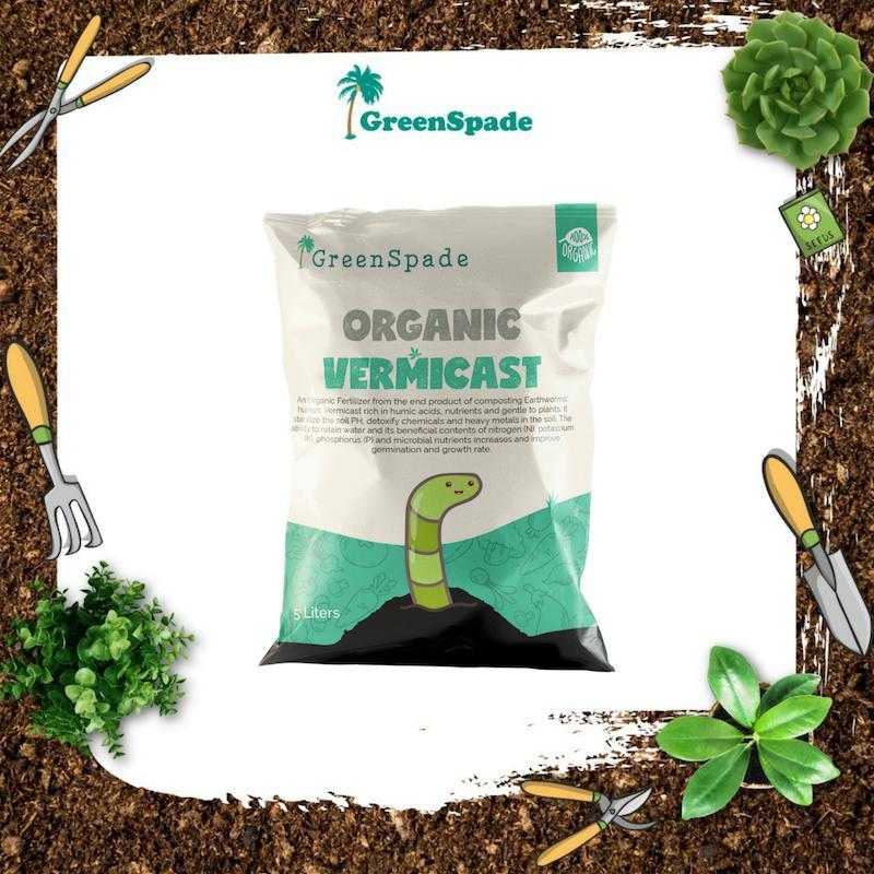 Green Spade Organic Vermicast (Fertiliser) 5 Litres
