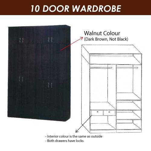 A-STAR 580 10 Doors Wardrobe