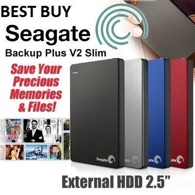 Seagate Backup Slim Plus 1 TB 2 HDD EXTERNAL HARD DISK