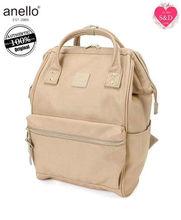 Anello Original Japan Unisex Backpack (NEW 2018 FAUX LEATHER, LARGE size) 4a35f34ced