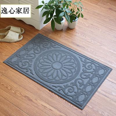 Outdoor Rubber Ground Mat Rug Door Doormat Entrance Anti-slip Rub Soil Mat Gate Coaster