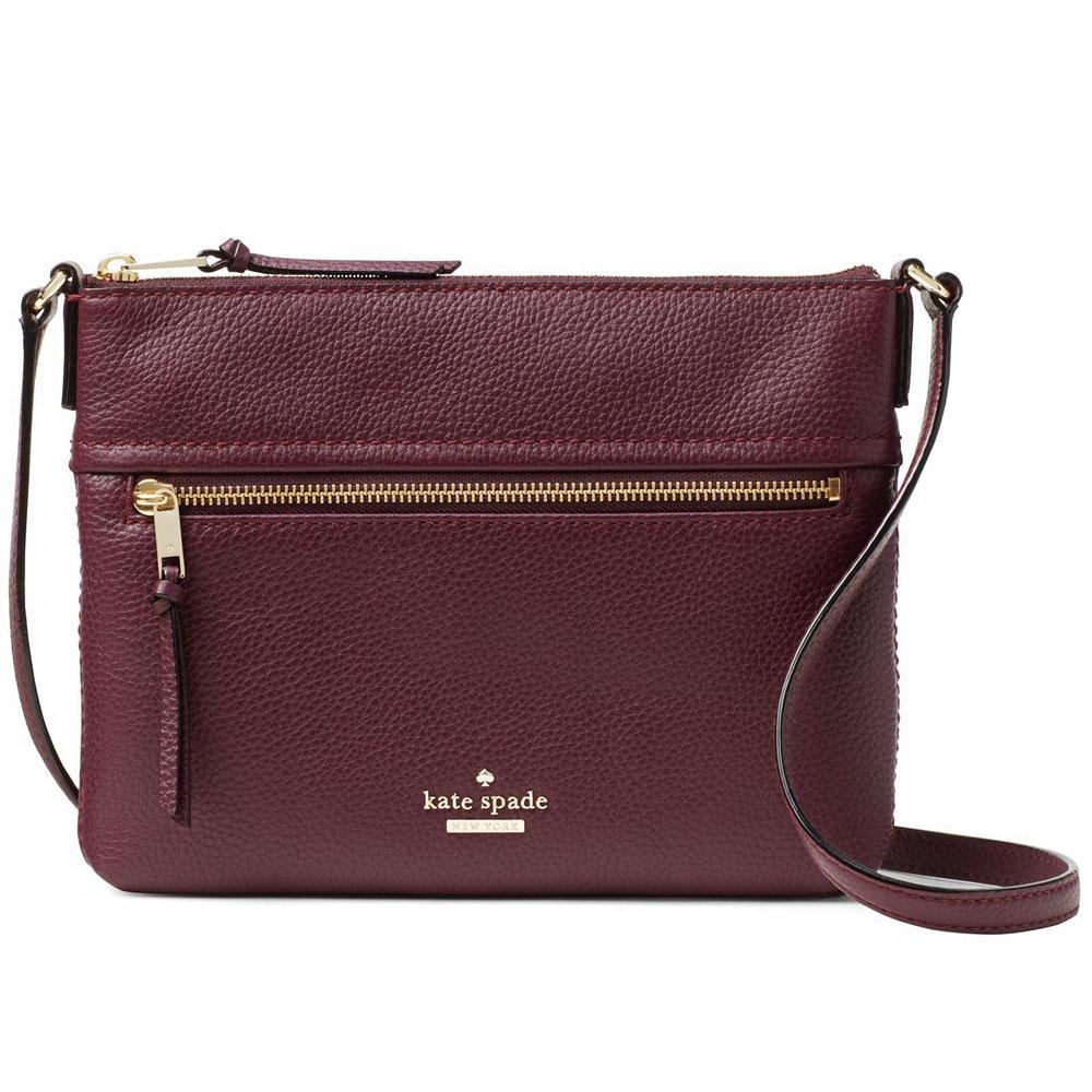 Buy Kate Spade Jackson Street Gabriele Crossbody Bag Handbag Plum Red Pxru7922 Online Singapore