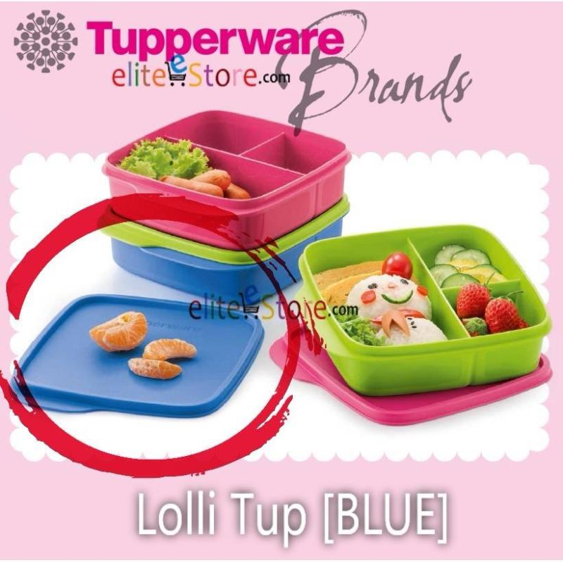 Tupperware Lolli Tup Lunch Box with divider [ BLUE 550ML ] Stackable Picnic Food Storage
