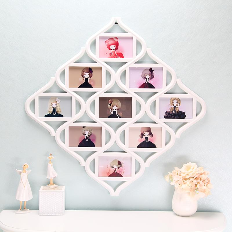 Creative Combination Frame Creative Joined Bodies Frame Wall 6-Inch Nine Frame Photo Wall Big Six Inches Photo Frame
