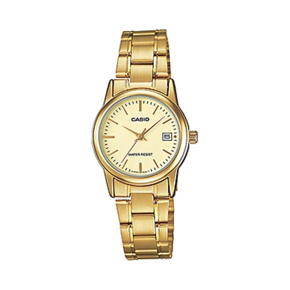Price Compare Casio Women Gold Watch Ltp V002G 9Audf