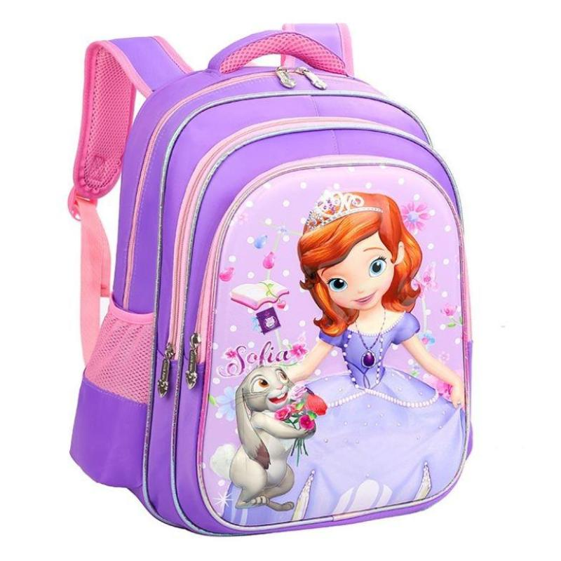 Girls P3 to P6 Princess 3D cartoon school bag