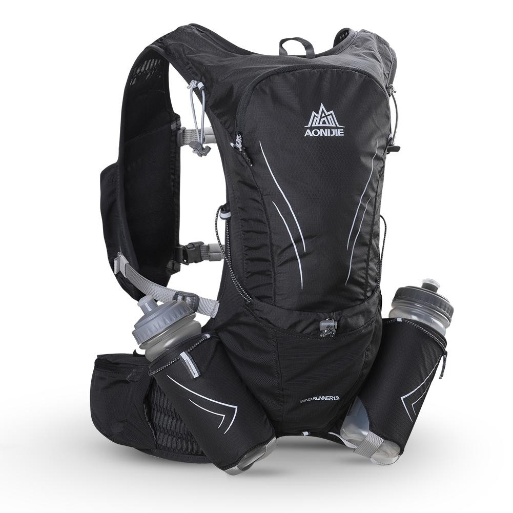 Aonijie Hiking 15l Backpack Daypack Hydration Vest Lightweight With 2x 600ml Water Bottles Black By The North Star.