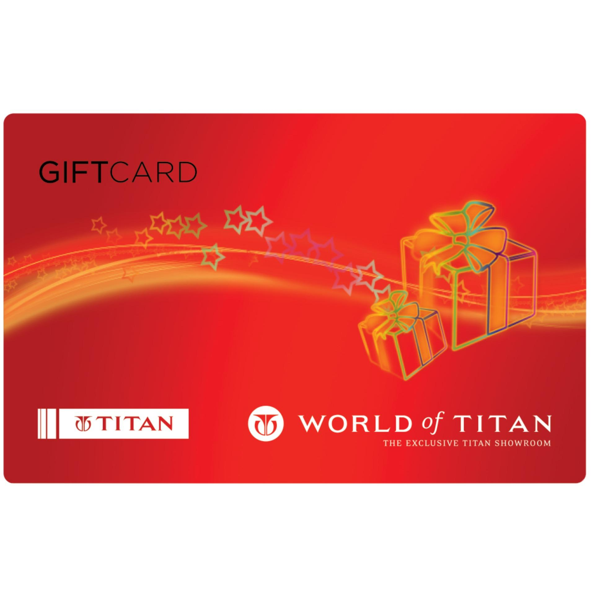 Titan Digital Gift Cards: Rs. 4005 By Qwikcilver Store.
