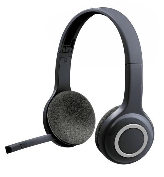 Logitech H600 Wireless Stereo Headset With Noise-Cancelling Mic & On-Ear Controls
