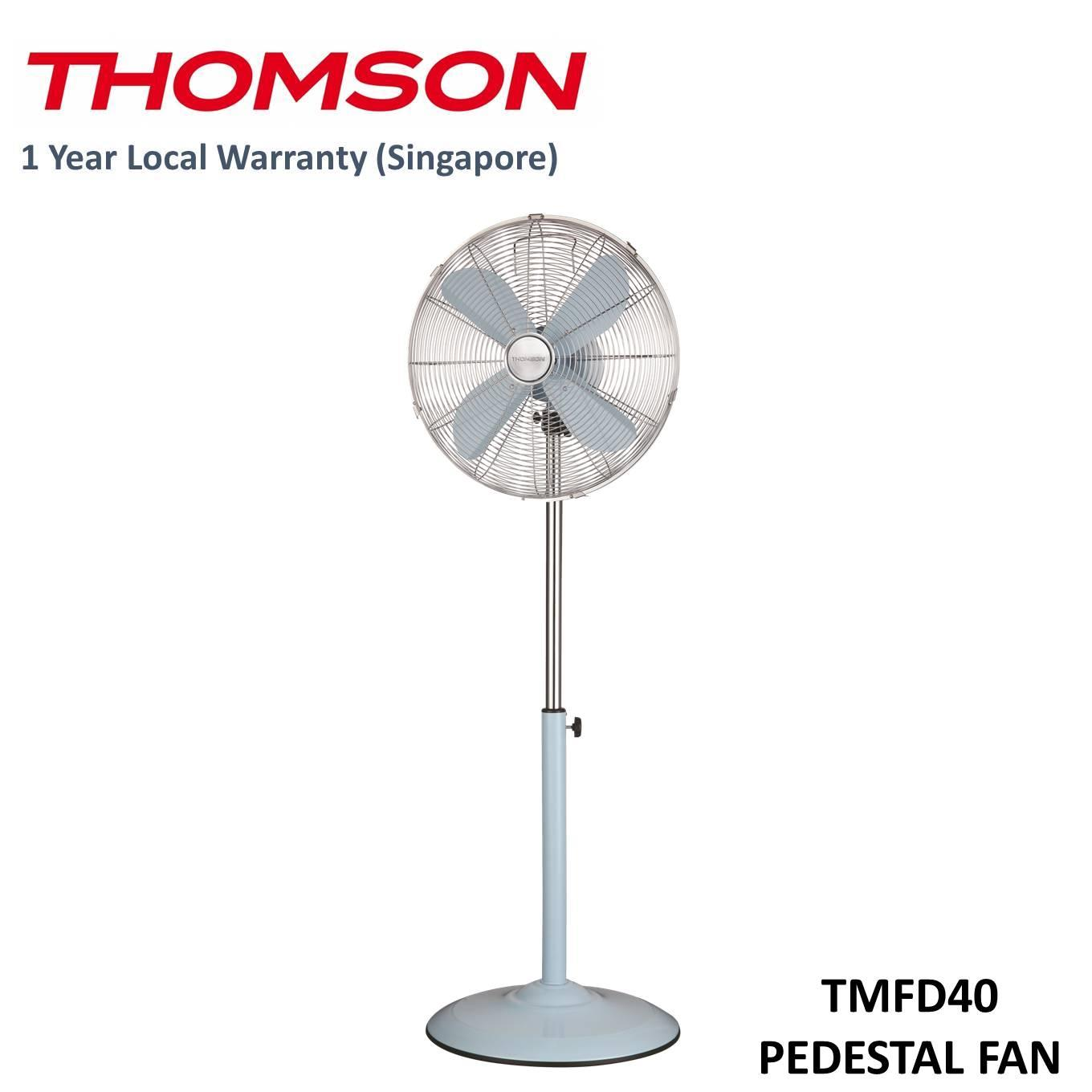 Discount Thomson 16 Retro Pedestal Fan Cream Red Baby Blue Thomson Singapore