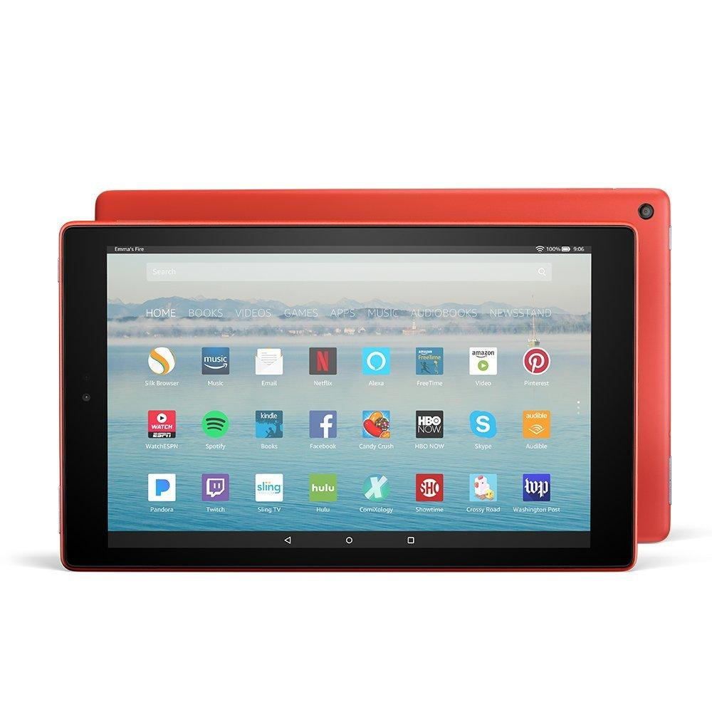 Discount Amazon Fire Hd 10 Tablet Red With Alexa Hands Free 10 1 1080P Full Hd Display 32 Gb With Special Offers Amazon On Singapore