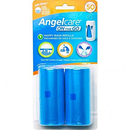 Angelcare On The Go Travel Nappy Bag Refill Pack + Odour Control Easy Knot Ac1310 By Sterne Mond Co.