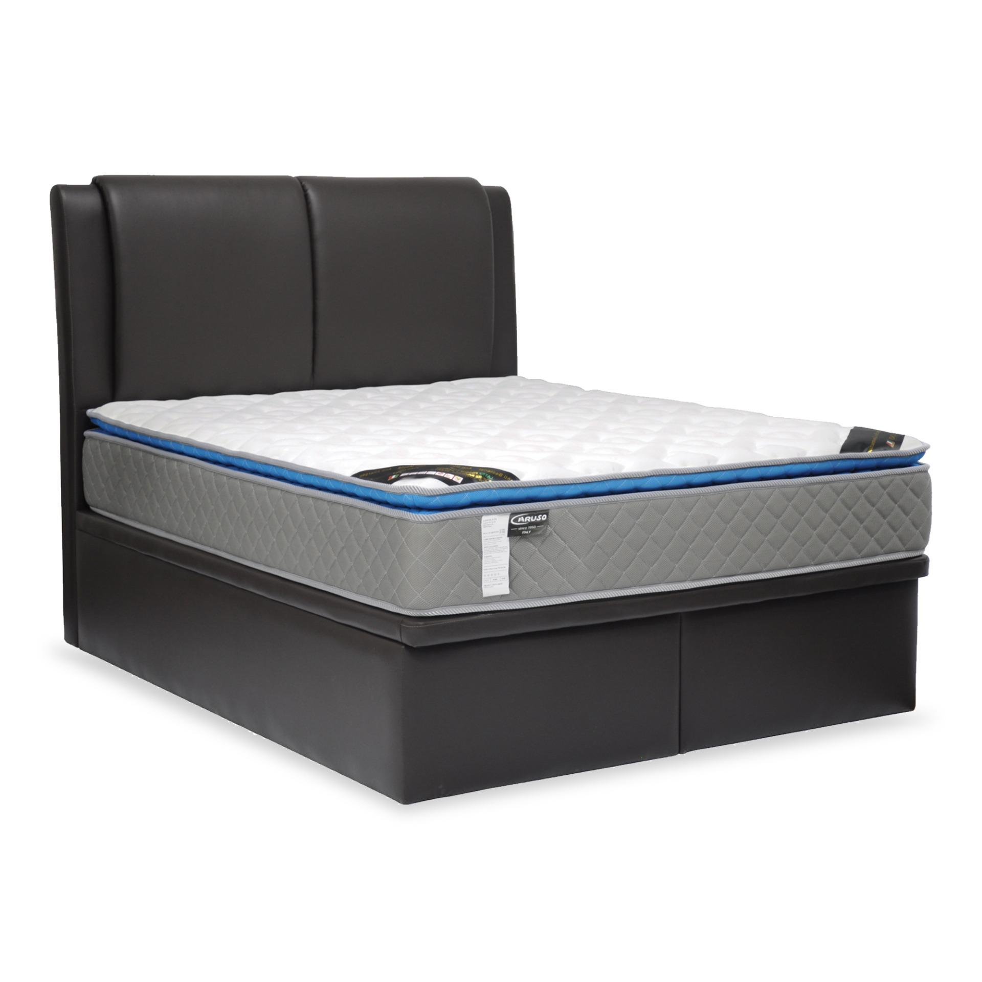 Fina PVC Storage Bed With Spring Mattress (FREE DELIVERY)(FREE ASSEMBLY)