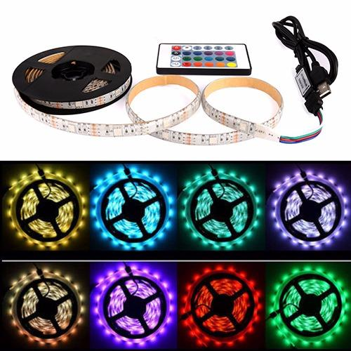 USB LED Strip Lights RGB ,5050 RGB Color Change USB LED Strip TV Computer USB Backlight Light Kit(5M)