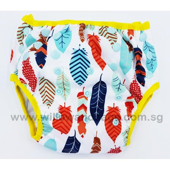 Baby Toddler Reusable Swim Diaper - Tribal Feathers By Willow & Sage.