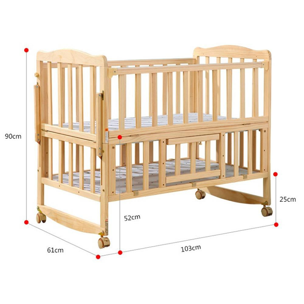 Regular Wooden Baby Bed Free Installation Discount Code