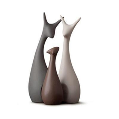 [One Mart][TSG] ★ Exquisite Ceramic Ornament Sets ★ Minimalist/ Modern/ Handcrafted ★ Cat/ Deer