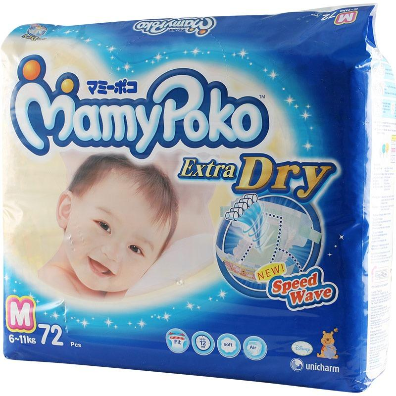 Mamypoko Diaper Extra Dry Mega M 72 S X3Packs 72 Pieces Pack Coupon Code