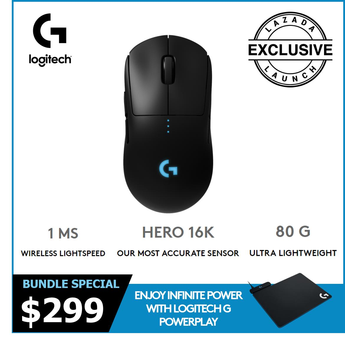 [Bundle Special] Logitech G Pro HERO Wireless Mouse + Powerplay wireless charger