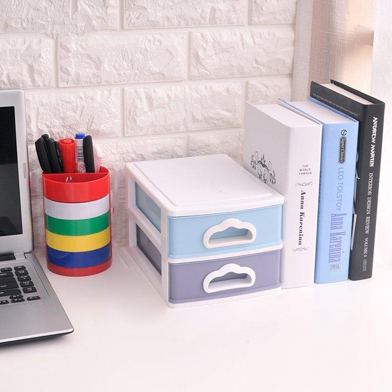 CELE Practical Organizer Stationery Storage Box DeskCELE Holder Multi-layer Drawer Random 2 layers