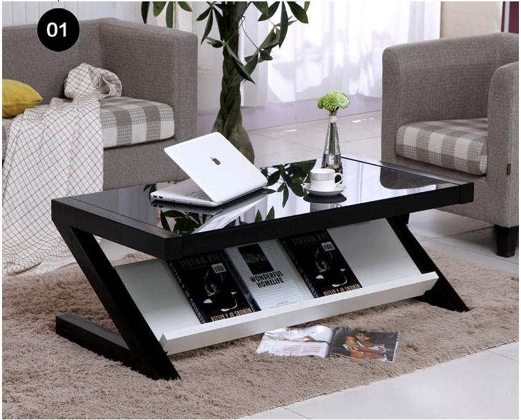 JIJI (Free Installation) Mikaela Z-Style Coffee Table 100/120 x 50 x 40 CM (Coffee Table)  Living Room Storage Coffee Table/ Furniture/ Free 12 Months Local Warranty (SG)