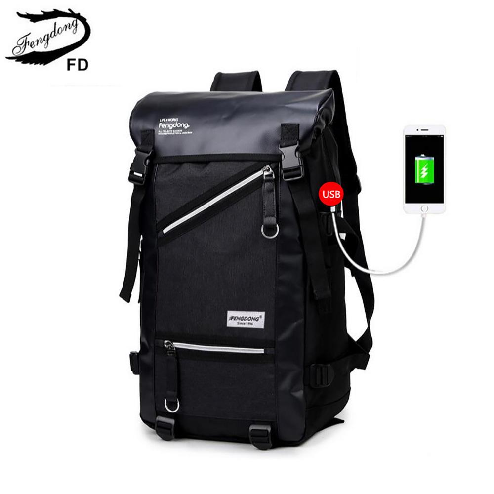 Where To Shop For Lkn Men Usb Charging Travel Bags Male Large Laptop Bag Boys College Student Sch**L Backpack Intl