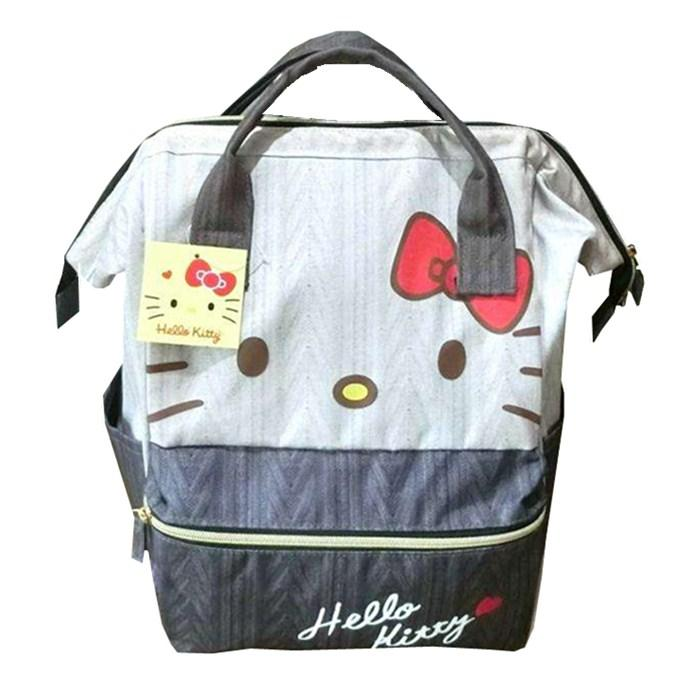 af9e31b03 Hello Kitty Schoolbag Away from Home VANWALK Package Female Large Capacity  Backpack Japan Leisure Travel Oxford