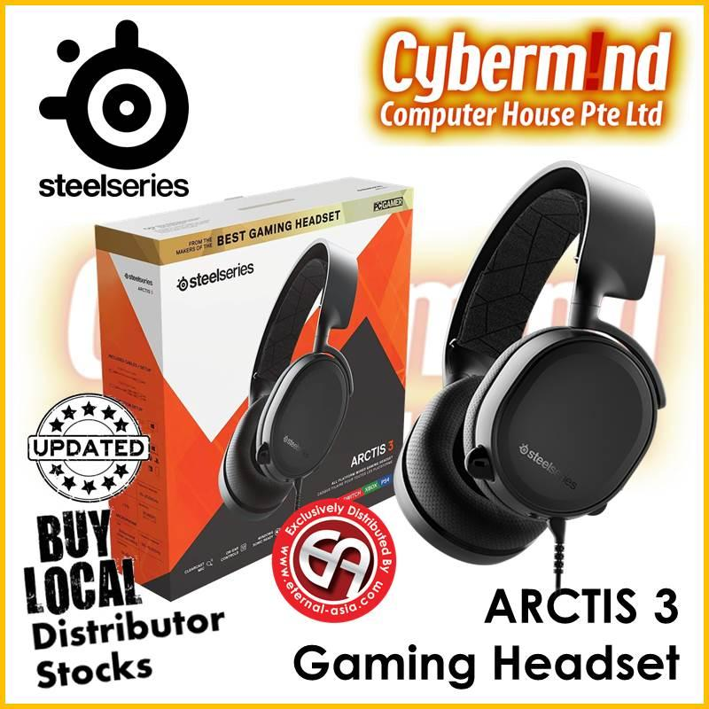 (UPDATED 2019 Edition) Steelseries Arctis 3 Gaming Headset (BLACK) PN:61503 (Local Distributor Stocks)