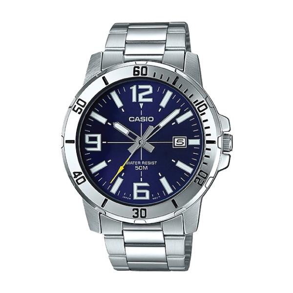 Casio Men's Diver Look Silver Stainless Steel Band Watch MTPVD01D-2B MTP -VD01D-