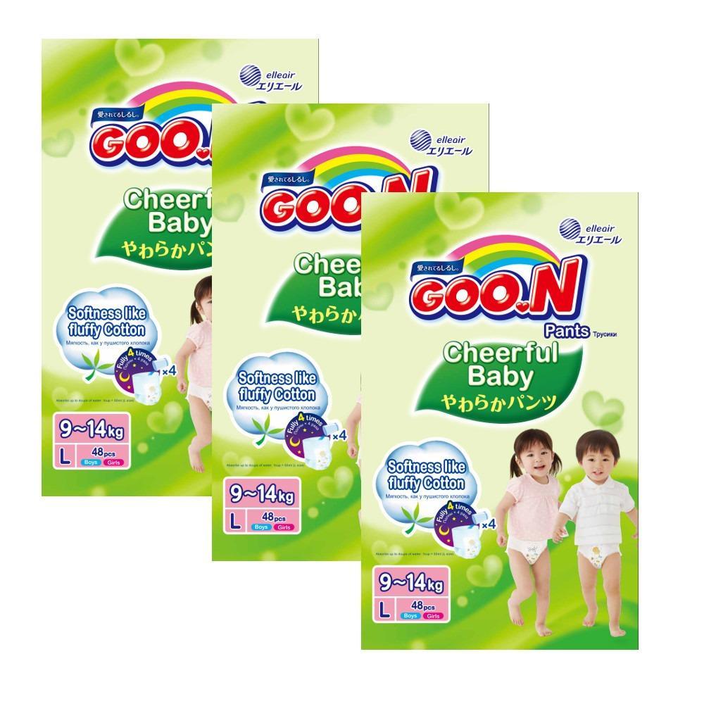 GOO.N Cheerful Baby Pants L48 x 3 Packs