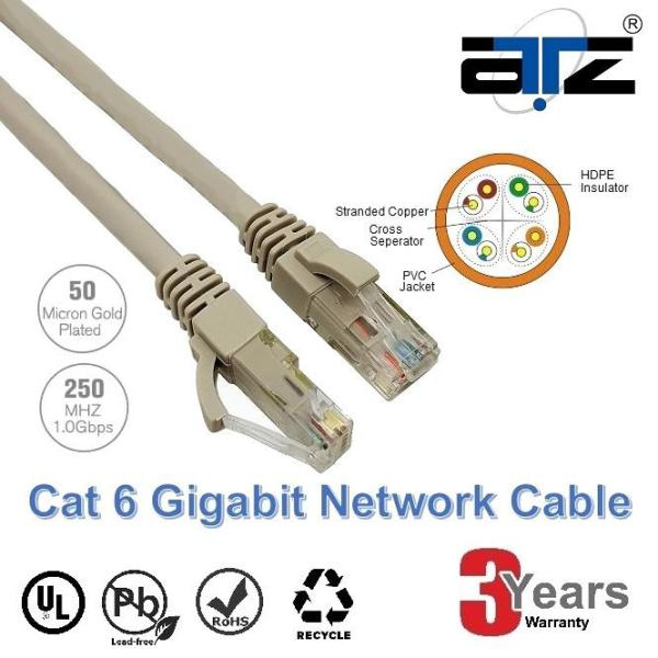 ATZ CAT 6 Gigabit Ethernet Lan Network Patchcord Cable-5M Network Cable