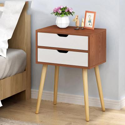 JIJI Veneto Bedside Table Ver 1. / Free Installation with 12-Months Warranty / Density Fiberboard / Drawers Cabinet