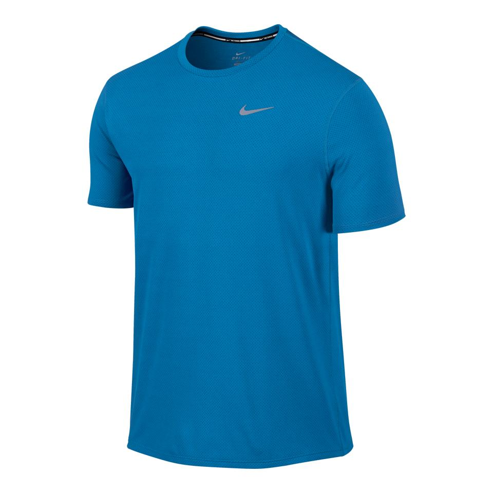 Lowest Price Nike Men S Dri Fit Contour Running Shirt Blue