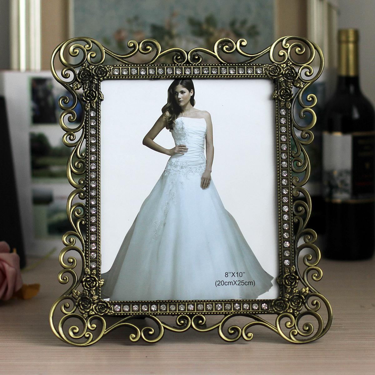 7/-Inch 10-Inch Metal Photo Frame White HYUNDAI Copper Vintage Wedding Photo Frames Gift Decoration Accessories X63