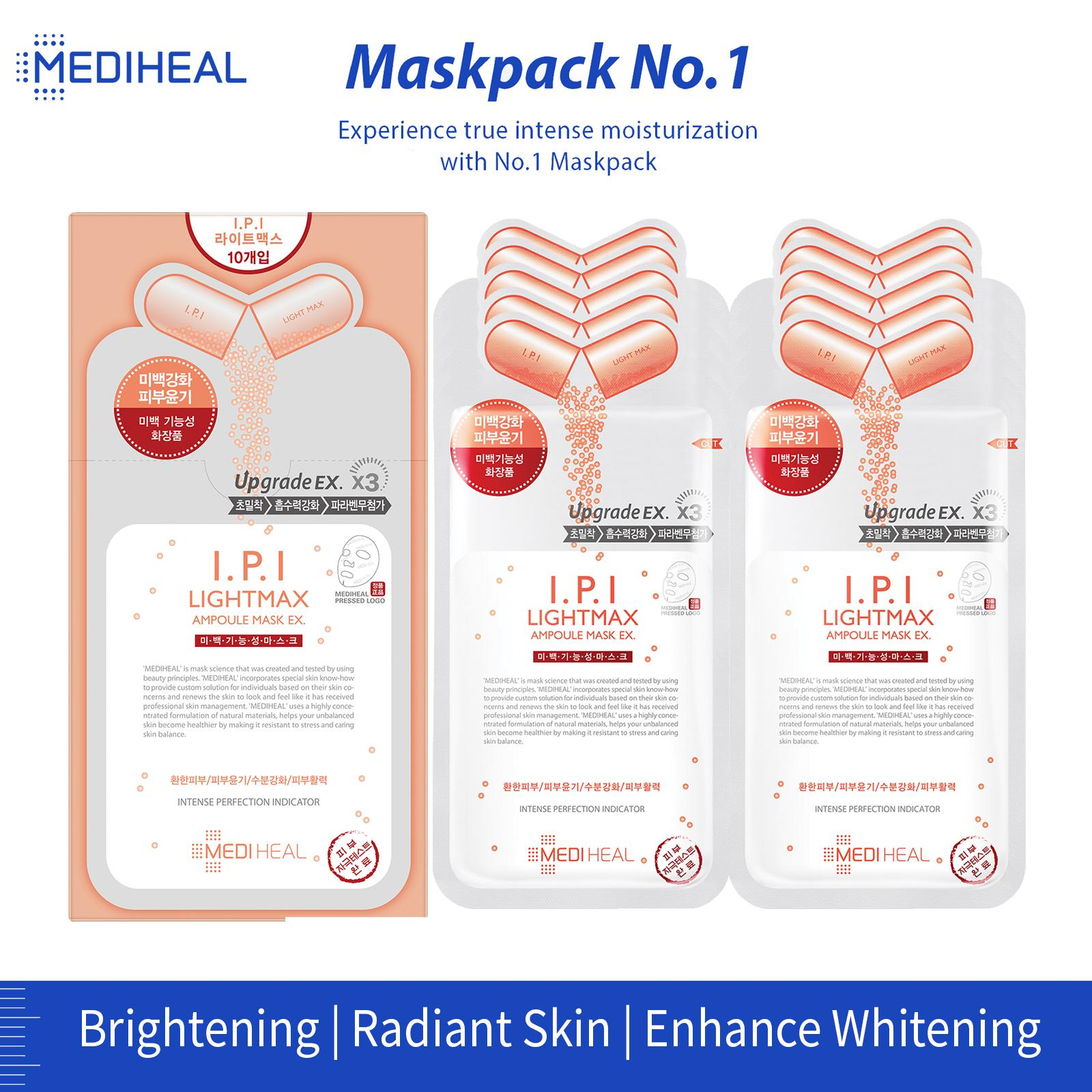 MEDIHEAL I.P.I Lightmax Ampoule Mask Box (27ml x 10pc)