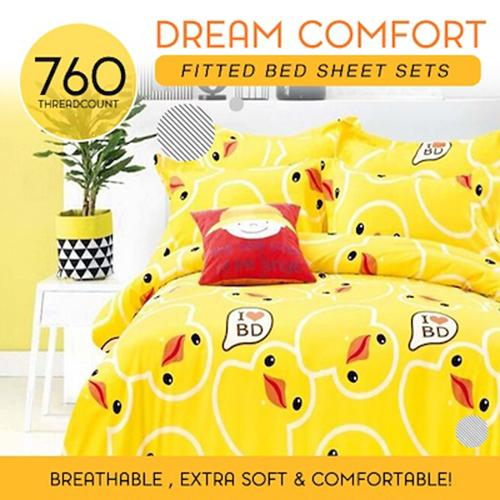 Price Comparisons Fitted Design Bed Sheet Set Brushed Microfiber Breathable Extra Soft And Comfortable Wrinkle Fade And Stain Quality Extremely Durable Duckling Love Design