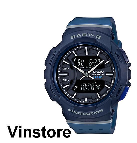 Casio Baby-G Running Series Women Sport Fashion Watch Blue Resin Strap Blue Case BGA