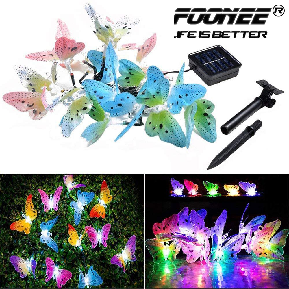 Foonee Solar Honey Bees String Lights, Creative Courtyard Solar LED Waterproof Festival Decoration Light String for Home Party Birthday Summer Garden Wedding Christmas Indoor Outdoor Decorations(4m/12LED lights)