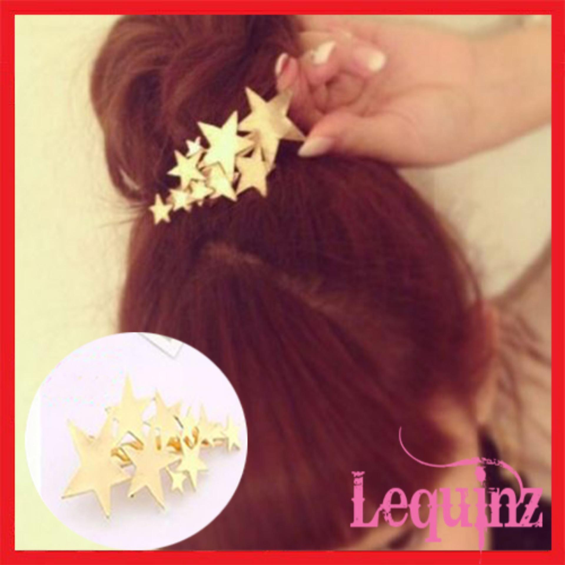 Cheap Golden Stars Hair Clip