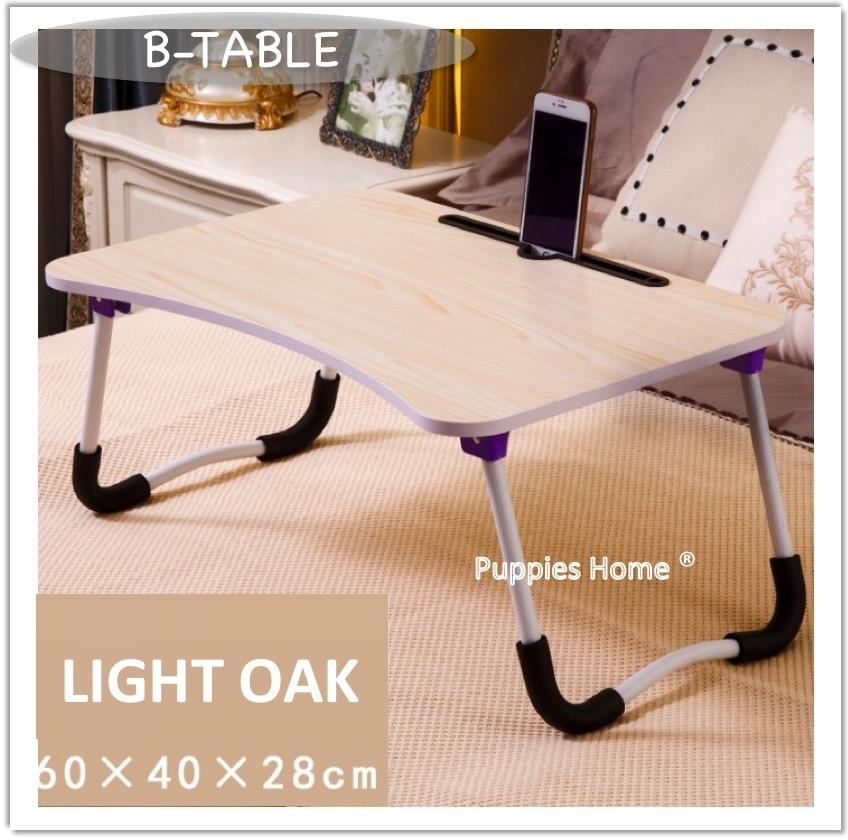 Bed Table Foldable Table Portable Laptop Desk PC Bed Organizer Notebook Light Compact