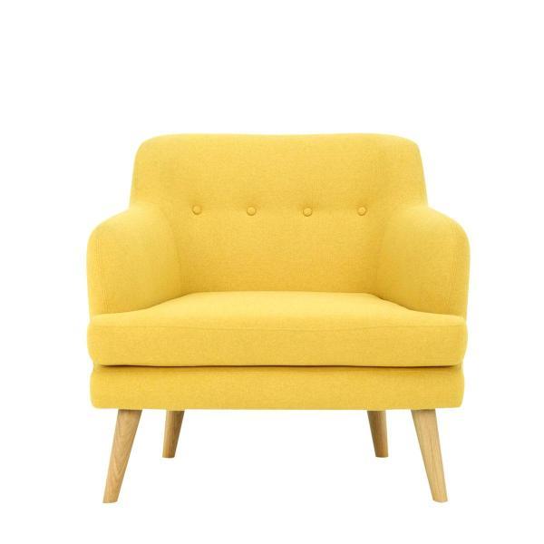 Exelero Armchair with Oak Leg for Living Room. Scandinavian Designer Furniture. High Quality.