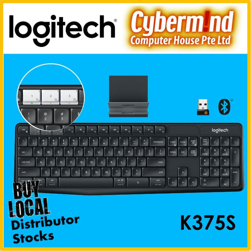(Mobile & Tablet Companion) Logitech K375s MULTI-DEVICE Wireless Keyboard and Stand Combo / Wireless 2.4GHz+Bluetooth (Local Distributor Stocks) Singapore