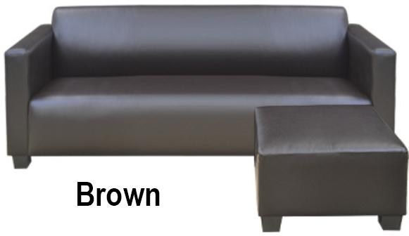 3-Seater + Stool Pvc Sofa By Furnituresg.