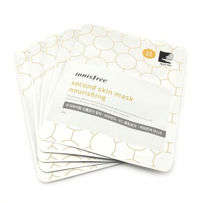5 Sheets Innisfree Second Skin Mask Nourishing Sale