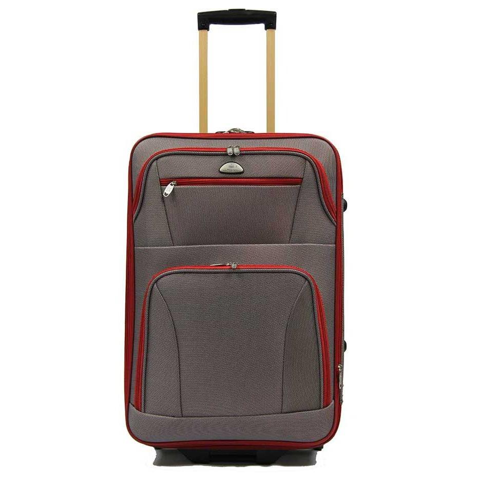 New 28 Inch Large Expandable Softside Luggage With 2 Cart Wheels